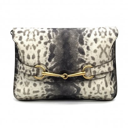 Unused Gucci Karung Medium Shoulder Bag in Animalier Printed GHW