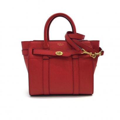 New Mulberry Bayswater Zipped Mini in Red Leather GHW