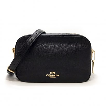 New Coach Jes Crossbody Bag Large  in Black Leather GHW
