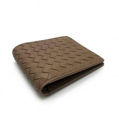 New Bottega Men's Wallet 8 Card in Tan Leather