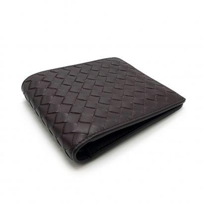 New Bottega Men's Wallet 8 Card in Dark Brown Leather