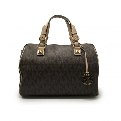 Used Michael Kors Grayson Handbag in Monogram GHW