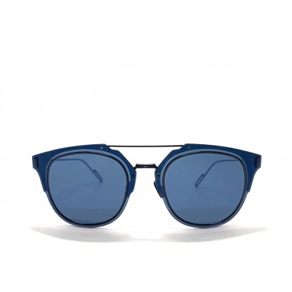 Used Christian Dior Homme Composit 1.0 Sunglasses in Blue Lens