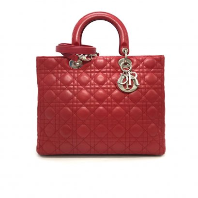 """Used Christian Dior Lady 12"""" in Red Leather SHW"""
