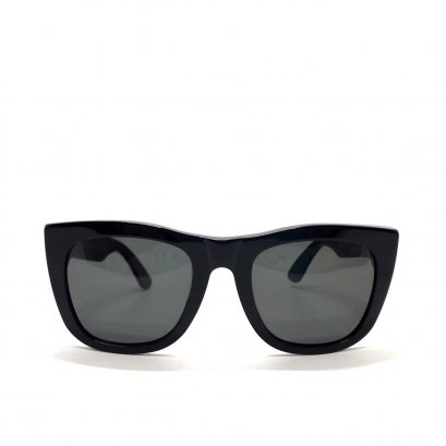 Used Super Sunglasses in Black Lens/Black GHW