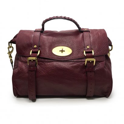 Used Mulberry Alexa Over Size in Burgundy Leather GHW