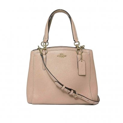 New Coach Mini Christie Handbag in Beechwood Leather GHW