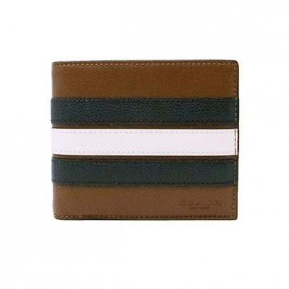 New Coach ID Men's Wallet in Varsity Saddle Leather