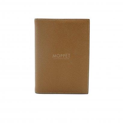 Used Hermes PassPort Holder in Gold Epsom PHW