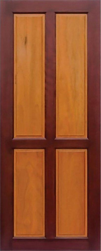 ประตูไม้จริง B6