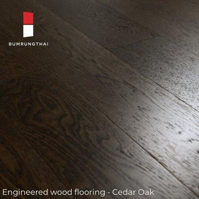ไม้พื้นเอ็นจิเนียร์  Cedar Oak