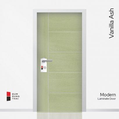 ประตูลามิเนตเซาะร่อง สี Vanilla Ash