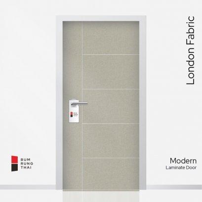ประตูลามิเนตเซาะร่อง สี London Fabric