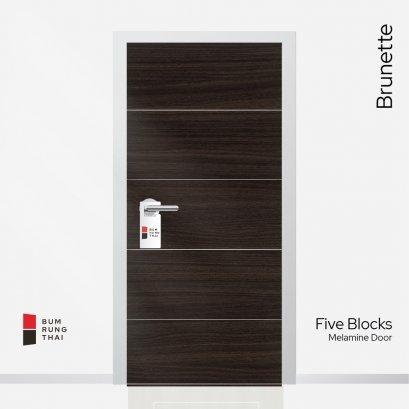 ประตูเมลามีน สี Brunette