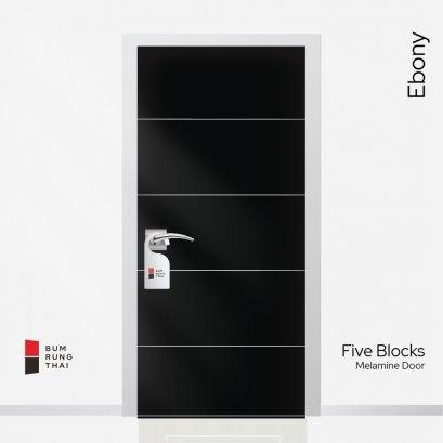ประตูเมลามีน สี Ebony