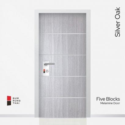 ประตูเมลามีน สี Silver Oak