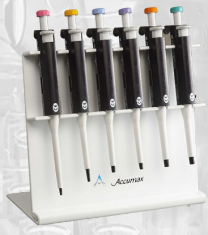 Acrylic stand to hold 6 pipettes