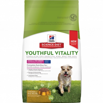 Hill's Science Diet Youthful Vitality Adult 7+ Small & Toy Breed Chicken & Rice 1.58kgs