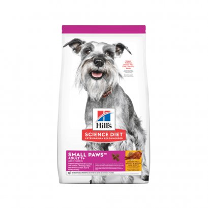 Hill's Science Diet® Adult 7+ Small Paws Chicken Meal, Barley & Brown Rice Recipe dog food (1.5 กก.)