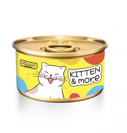 Delight - Kitten & More ทูน่ามูสแมวเลีย 80g.