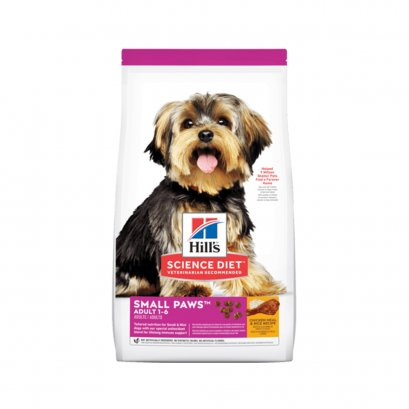 Hill's Science Diet Adult Small Paws Chicken Meal & Rice Recipe dog food (1.5 กก.)