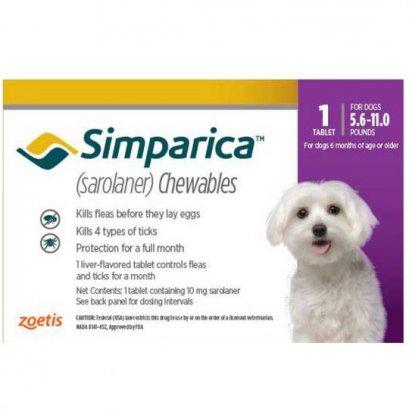 Simparica ซิมพาริคา 10mg (สำหรับสุนัข 2.5-5 kg.)