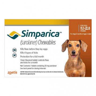 Simparica ซิมพาริคา 20mg (สำหรับสุนัข 5-10 kg.)