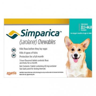 Simparica ซิมพาริคา 40mg (สำหรับสุนัข 10-20 kg.)