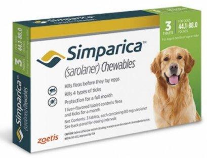 Simparica ซิมพาริคา 80mg (สำหรับสุนัข 20-40 kg.)