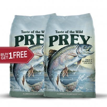 Taste of the wild PREY Trout (680 G.) 1 แถม 1