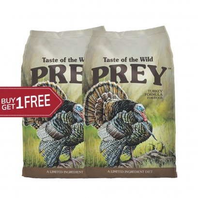 Taste of the wild PREY Turkey (680 G.) 1 free 1