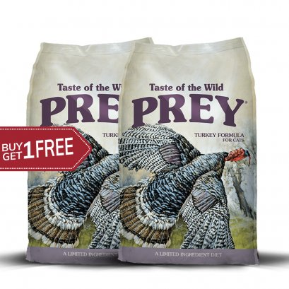 Taste of the wild PREY Turkey for cats (680 G.) 1 free 1