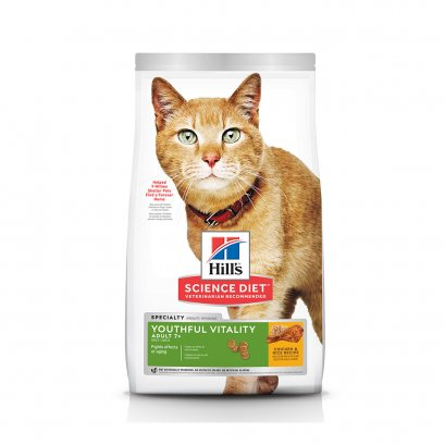 Hill's Science Diet Youthful Vitality Adult 7+ Chicken & Rice Recipe cat food (6.8 กก)