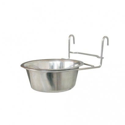 Dog-Link Cage Hanger Stainless Bowl (16 cm.)