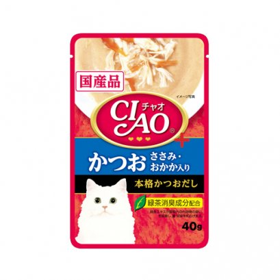 CIAO Cat Food Pouch Tuna & Chicken Fillet with Bonito (40 g.)