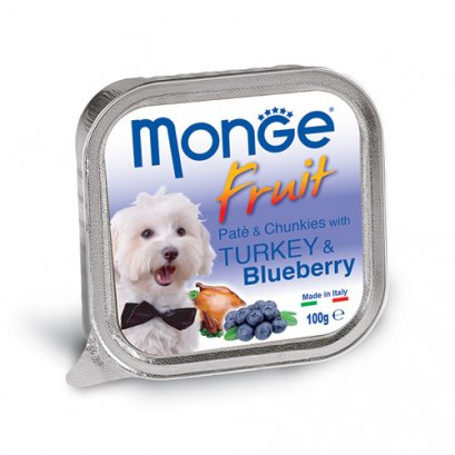 Monge Fruit Pate and Chunkies with Turkey & Blueberry (100 g.)