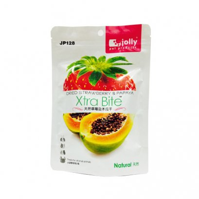 Jolly Dried Strawberry & Papaya Snack (20 g.)