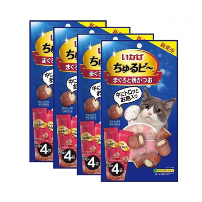 CIAO Cat Snack Churubee 10 g. (4 pcs./Pack) x 4