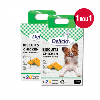 Delicio Biscuit Chicken with Pumpkin & Kale (140 g) x 2
