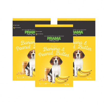 Prama Dog Snack Banana Peanut Butter