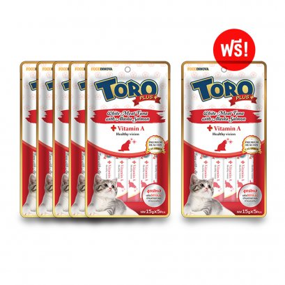 Toro Plus White Meat Tuna with Alaska Salmon (5 pcs./Pack) Buy 5 Free 1