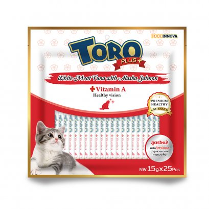 Toro Plus White Meat Tuna with Alaska Salmon (25 pcs./Pack)