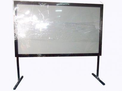 จอโปรเจคเตอร์ Fix frame 110 นิ้ว ขนาด (1.37x2.44 m) 16:9 พร้อมขา สูง 80 cm