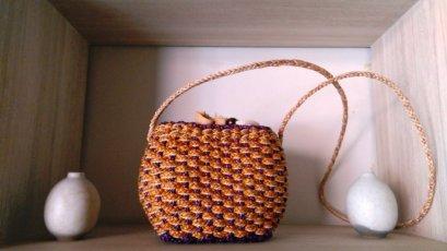 Pattern crossbody water hyacinth bag