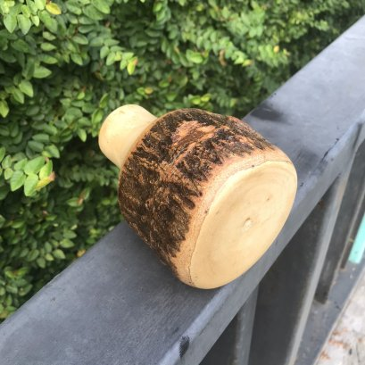 Mango wooden vase