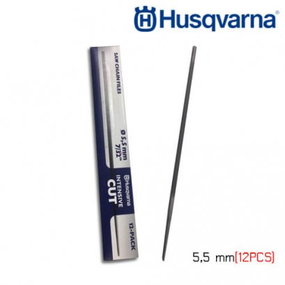 HUSQVARNA ROUND FILE 5.5 MM, 12 PCS, (H42/H64)