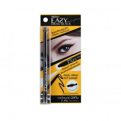 (หมดอายุ เดือน 09/2021) Mistine Easy Draw Black Crayon Eyeliner 0.35 g.
