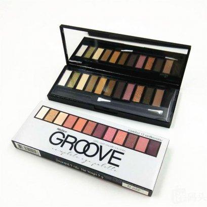 อายแชโดว์พาเลท 12 สี Mistine Groove Complete Eye Palette (Brown)