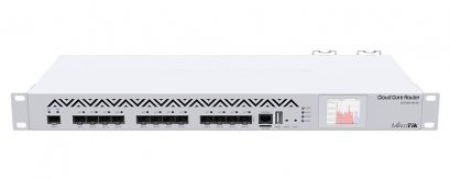 CCR1016-12S-1S+ 1U rackmount, 12xSFP cage, 1xSFP+ cage, 16 cores x 1.2GHz CPU, 2GB RAM, LCD panel, Dual Power supplies, RouterOS L6