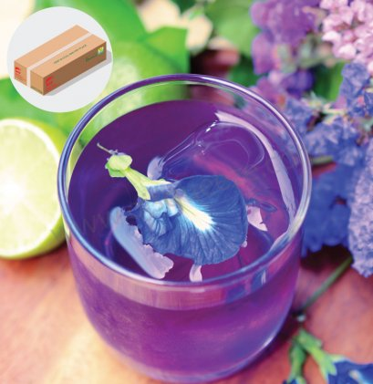 Blue Pea With Lime Beverage Powder